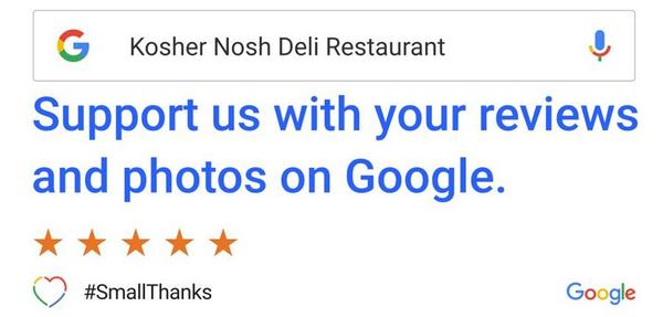 Support your favorite Deli on Google